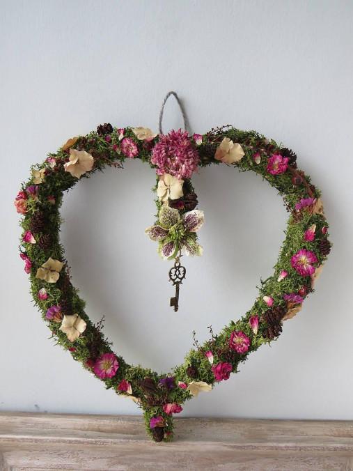 """Dekorácie - Kvetinové srdce """"Romantic"""" - 13258225_"""