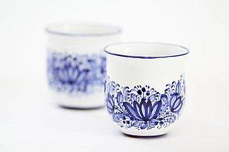 Nádoby - Hrnček s modrým dekórom - 13257337_