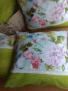 Úžitkový textil - Vankúš v zelenom - 13256193_