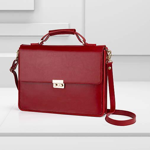 Na notebook - Kožená taška / aktovka na notebook alebo dokumenty AMIGA - 13258250_