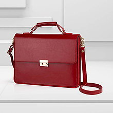 Na notebook - Kožená taška / aktovka na notebook alebo dokumenty - 13258250_