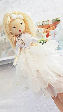 Bábiky - Anetka na prvom svätom prijímaní... - 13258355_