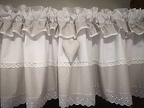 Úžitkový textil - Záclonka sivo-béžová - 13256816_