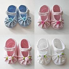 Topánočky - Sandálky s ružičkou - 13256325_