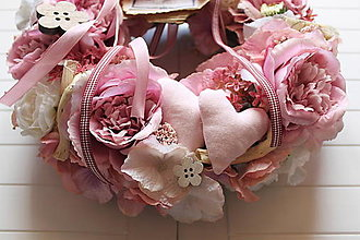 Dekorácie - Ružovo-fialový venček - 13256096_
