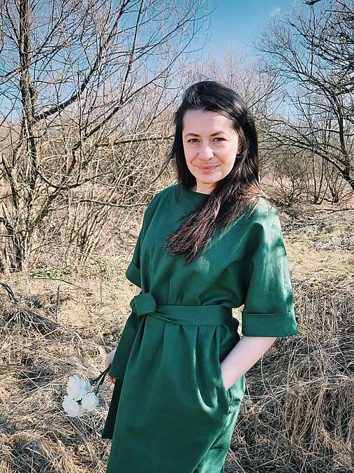 Šaty - Ľanové šaty - 13257666_