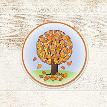 Pomôcky - Strom podšálka - jeseň - 13257061_