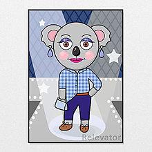 Grafika - Módna koala pragmatická Martina - 13259385_