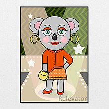 Grafika - Módna koala svieža Erika - 13259388_