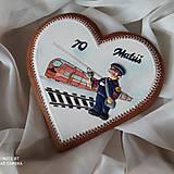 Dekorácie - Srdce s motivom železničiara - 13262923_