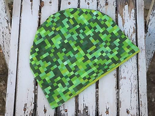 Dizajnová úpletová čiapka pixel