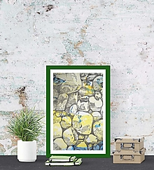 Kresby - Riečne kamene - 13262884_