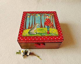 Krabičky - Drevená krabička Nezvyčajní priatelia - 13260897_