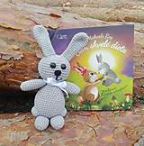 Hračky - Hačkovaný zajačik bez knižky - 13262485_