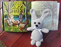 Hračky - Hačkovaný zajačik bez knižky - 13262691_