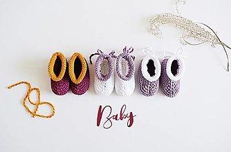 Topánočky - Bavlnené papučky so šnúrkami pre bábätko - 13261711_