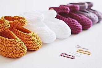 Topánočky - Bavlnené balerínky pre bábätko - 13261853_