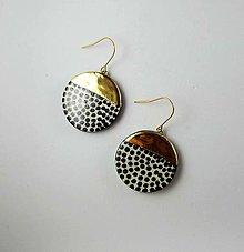 Náušnice - TANA hand made jewellery - keramika/zlato - 13260460_