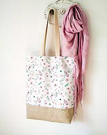 Nákupné tašky - Taška nežné kvietky - 13262541_