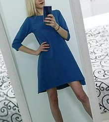 Šaty - Maľované šaty modré - 13261157_