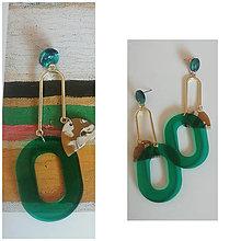 Náušnice - Smaragdové náušnice - 13260427_