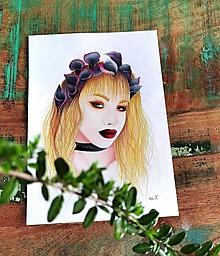 "Kresby - Botanické ArtDeco ""Rock Princess"" - 13260064_"