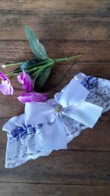 Bielizeň/Plavky - Svadobný podväzok - modrý - 13260254_