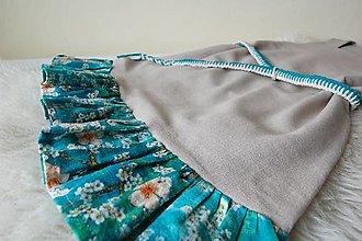 Detské oblečenie - Ľanové šaty s volánom - 13259907_