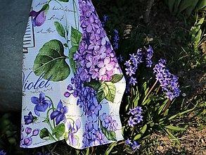 Úžitkový textil - Utierka Violet - 13266898_