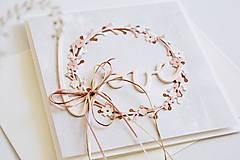 Papiernictvo - Svadobný pozdrav - kvetinový venček - 13263783_