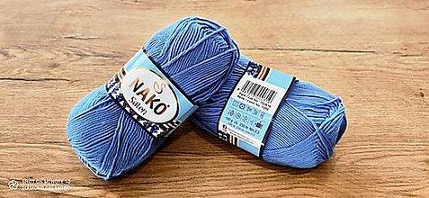 Galantéria - Pletacia priadza SATEN (1256 - stredne modrá) - 13265249_