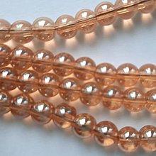 Korálky - Sklenené korálky Bubble Beads AB™  (6mm-kašmír-1ks) - 13266156_