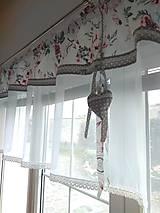 Úžitkový textil - Záclona ružový kvet - 13264512_