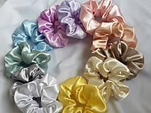 Ozdoby do vlasov - Pastelové farby- saténové gumičky - 13263805_
