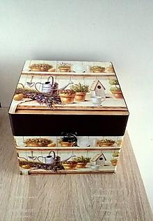 Krabičky - drevená šperkovnica/ kufrík - 13266902_
