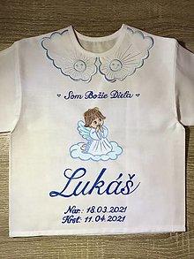 Detské oblečenie - Košieľka na krst - Anjelik 5 - 13263275_