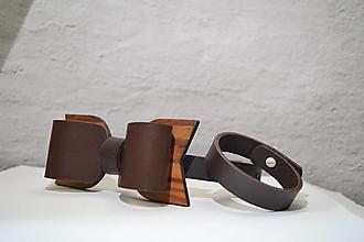 Doplnky - Pánsky SET  - BowTie & Bracelet - 13265304_