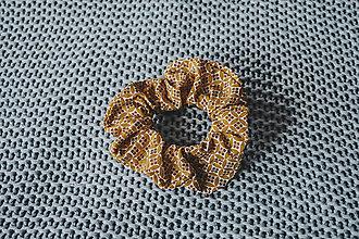 Ozdoby do vlasov - Vzorovaná scrunchies - 13264686_
