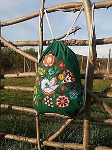 Batohy - Vak s Vajnorským ornamentom ZELENÝ - 13266724_