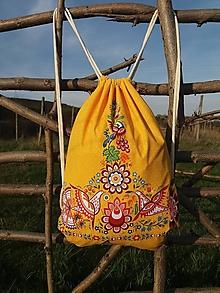Batohy - Vak s Vajnorským ornamentom ŽLTÝ - 13266735_