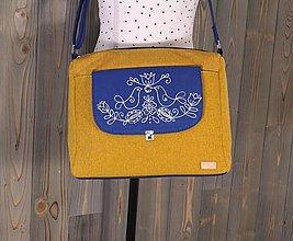 Kabelky - modrotlačová kabelka Melinda žltá AM - 13264262_