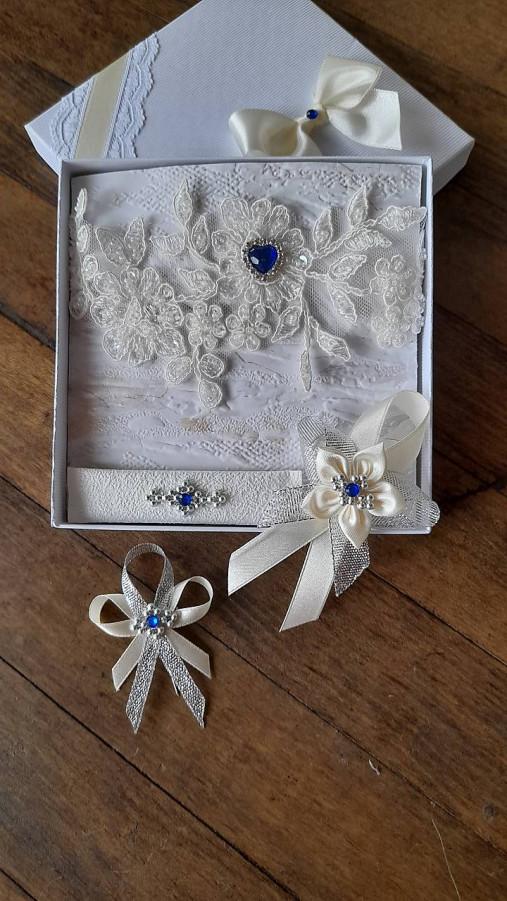 Svadba ivory - modrý kamienok