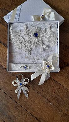 Pierka - Svadba ivory - modrý kamienok - 13264248_
