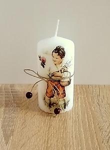 Svietidlá a sviečky - veľkonočná sviečka chlapček - 13266876_