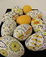 Dekorácie - Husacie vajíčka / lúčne kvety /farba na želanie - 13265659_