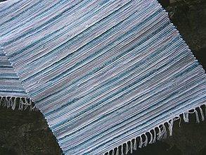Úžitkový textil - tkany koberec tyrkysovy - 13268501_