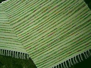 Úžitkový textil - tkany koberec zeleny melir - 13268717_