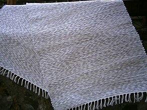 Úžitkový textil - tkany koberec svetlo sivy - 13268785_