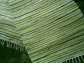 Úžitkový textil - tkany koberec olivovy - 13268833_