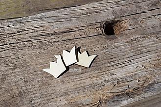 Materiál ručne robený - korunky...mini výrezy 3ks - 13268884_